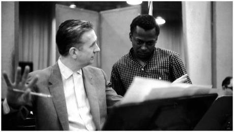Giles Evans & Miles Davis at the Kind of Blue recording sessions, 1957