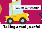 Prendere Taxi. Taking Taxi, Italian Language