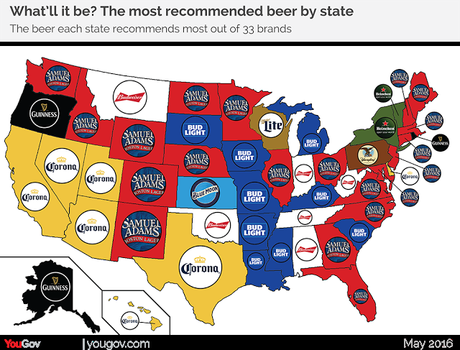 Most Recommended Beer In Each Of The 50 States