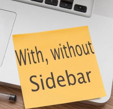 With, without Sidebar