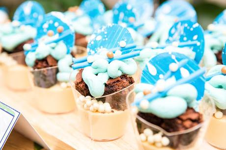 Azure Blue Engagement Party by Perfectly Sweet Lollie Buffet