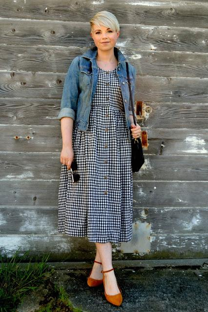 Look of the Day: Linen Gingham Babydoll Dress