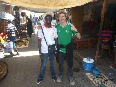 Touring the Albert Market in Banjul, the Gambia