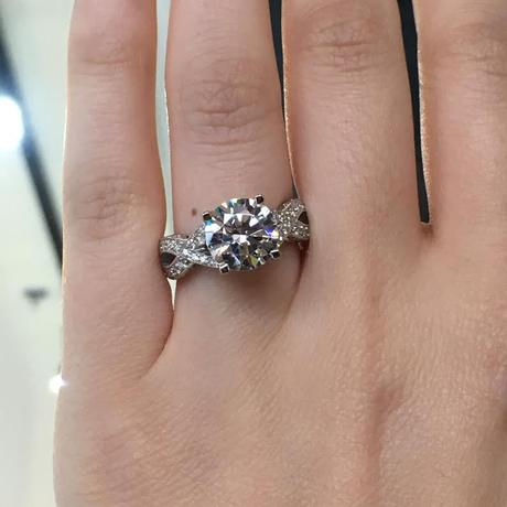 Tacori Ribbon engagement ring