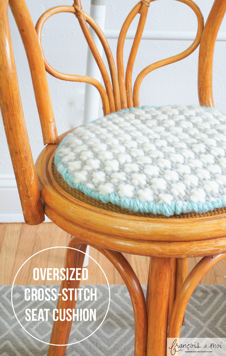 Make A Modern Cross Stitch Cushion