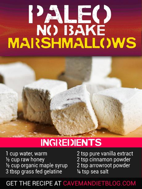 paleo dessert recipes marshmallow ingredient image
