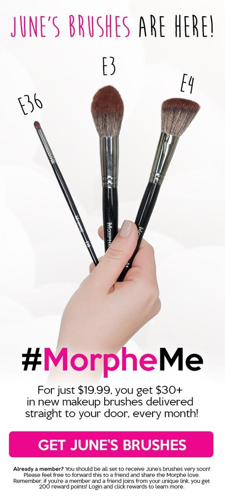 Get June's Brushes now when you join #MorpheMe!