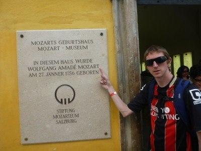 Outside Mozart's Birthplace, Salzburg #visitsalzburg