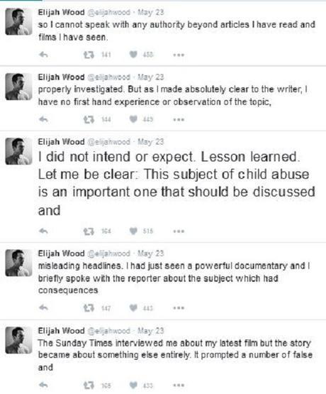 Elijah Wood denies Hollywood pedophilia