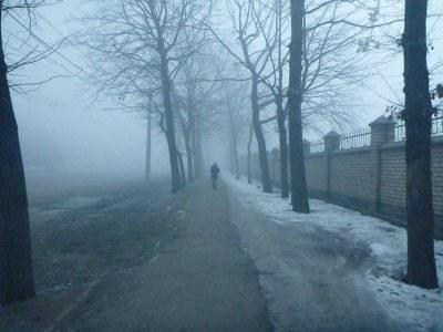 Winter walk to the Indian Embassy in Bishkek