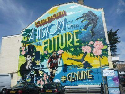 A wall mural in Bournemouth, Dorset, England