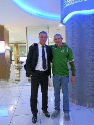 Michael O'Neill and I in Turkey
