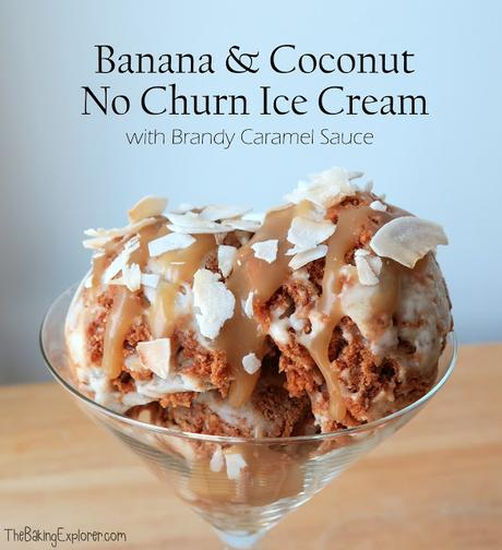 Banana & Coconut No Churn Ice Cream