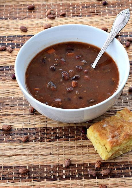 vegan bean and bacon soup
