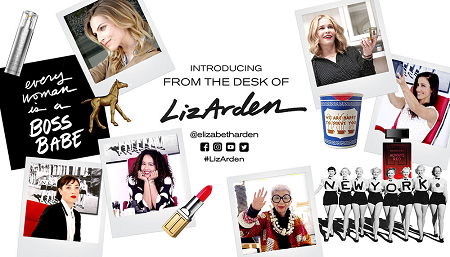 Signature digital campaign from the desk of Liz Arden