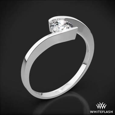 "Platinum ""Lilly"" Solitaire Engagement Ring at Whiteflash"