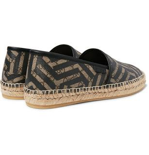 Stunning Slip:  Gucci Leather-Trimmed Coated Canvas Espadrilles