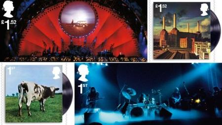 The Royal Mail issues Pink Floyd stamp set