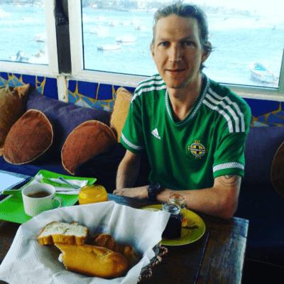 Breakfast at Maison Abaka Dakar Senegal before the journey to the Gambia