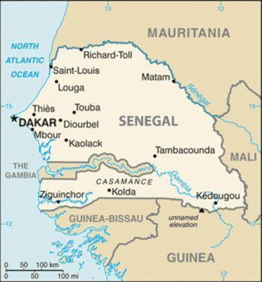 World Borders: Looks like an easy journey from Dakar to Banjul right?