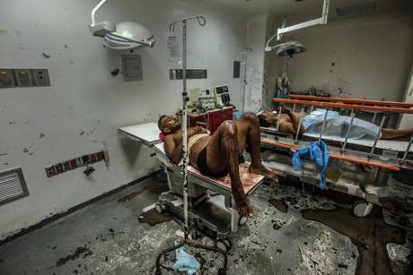 Scene in a Venezuelan hospital