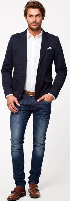 the guide to wearing a blazer with jeans paperblog. Black Bedroom Furniture Sets. Home Design Ideas