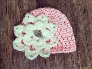 Free Crochet Pattern Release:  Newborn Boutique Baby Flower Hat