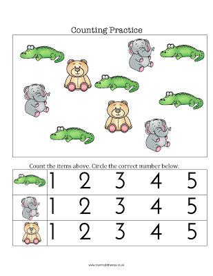Zoo Counting Practice & Free Printable
