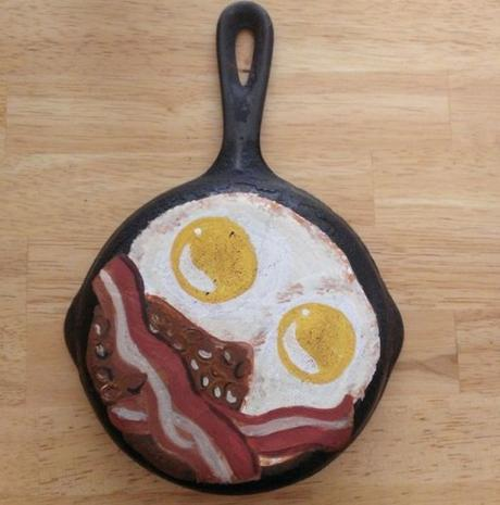 Frying Pan / Skillet Transformed Into a Painting