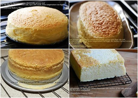 Japanese Cotton Cheesecake (A record on my attempts)