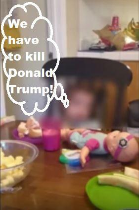 Hispanic 3-year-old says kill Donald Trump