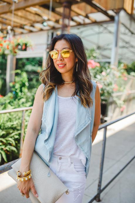 Chic at Every Age // Chambray Vest