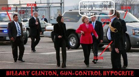 Hillary Clinton gun-control hypocrite