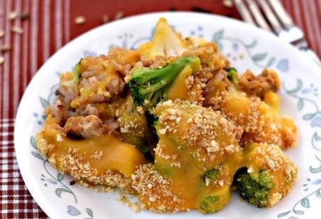 Vegan Rice and Veggies Au Gratin