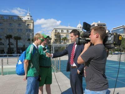 Shaun Schofield and I interviewed in Baku, Azerbaijan just before the 2-0 defeat