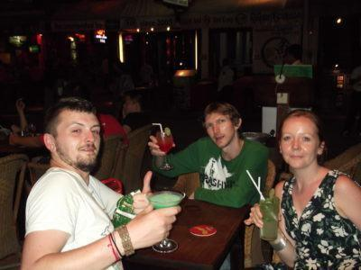 Anthony, myself and Helen partying in Cambodia in 2012.