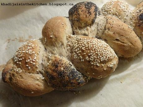 PAIN DE LA SEMAINE : PAIN TRESSÉ /BREAD OF THE WEEK: BRAIDED BREAD / PAN DE LA SEMANA: PAN TRENZA / خبز الاسبوع   خبز مضفور