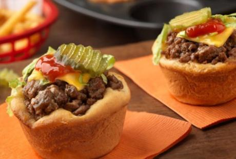 Biscuit Muffin Cheeseburgers