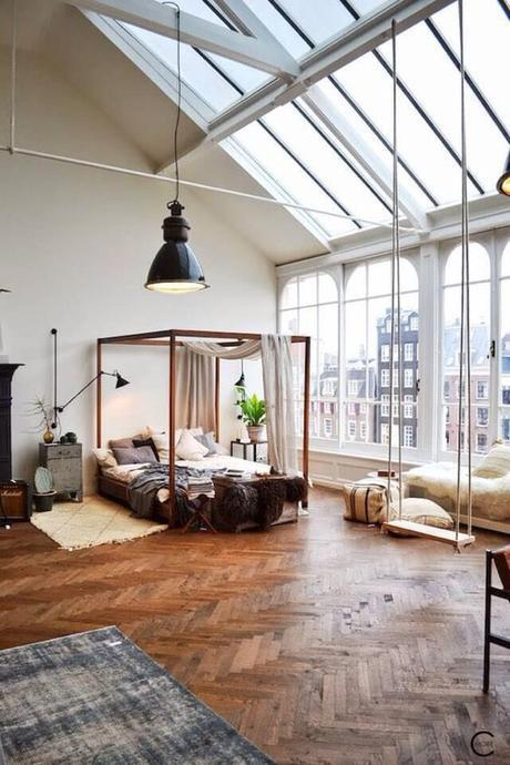 Amsterdam Loft Bedroom With A Swing