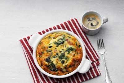 Low-Carb Frittata with Fresh Spinach