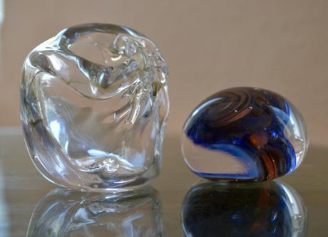 Pieces made at glass making workshop
