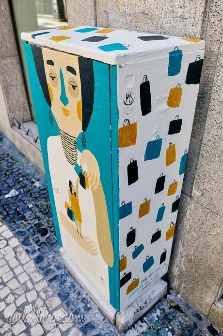 electrical box street art on Rua de Cedofeita, Porto, by Mirjam Siim