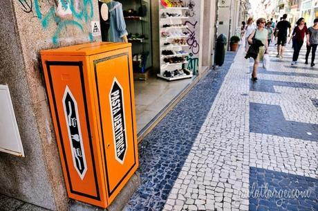 electrical box street art by Catarina Rodrigues and Thiago Marcial