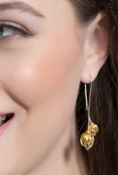 Lotus Bud Earrings- fourseven