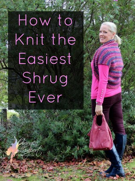How to knit the easiest shrug ever free knitting pattern