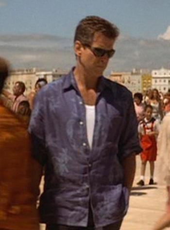 0b11f954f1d61 Bond s Blue Hawaiian Shirt in Die Another Day - Paperblog