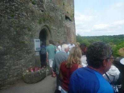 The queue into Blarney Castle