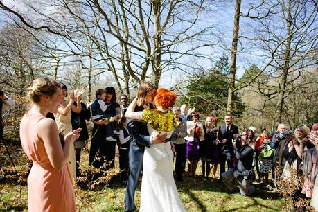 Weddings at Derwentwater Youth Hostel outside ceremony