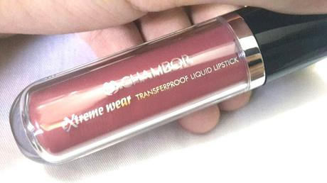 Chambor Extreme Wear Liquid Transfer Proof Lipstick 402 Review and Swatches