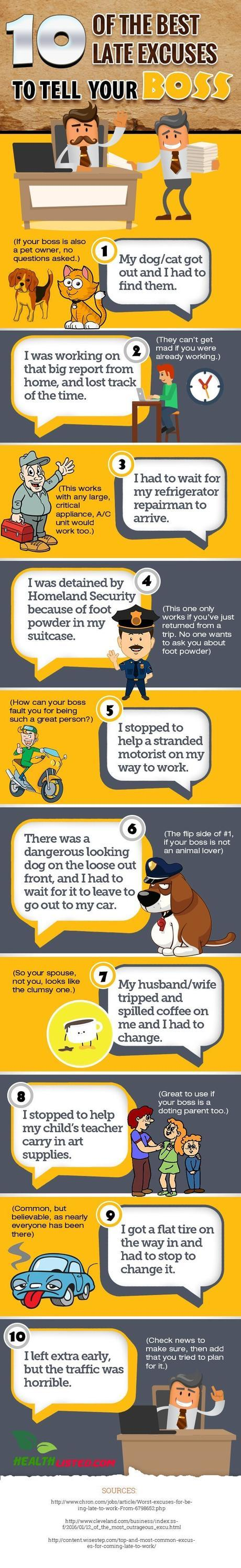 excuses for boss